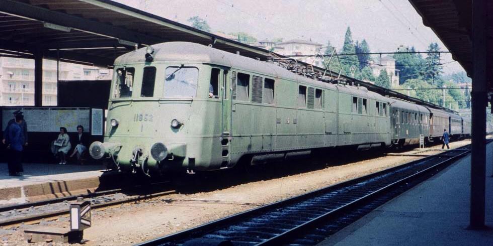 Ankunft des Ex 54 in Lugano